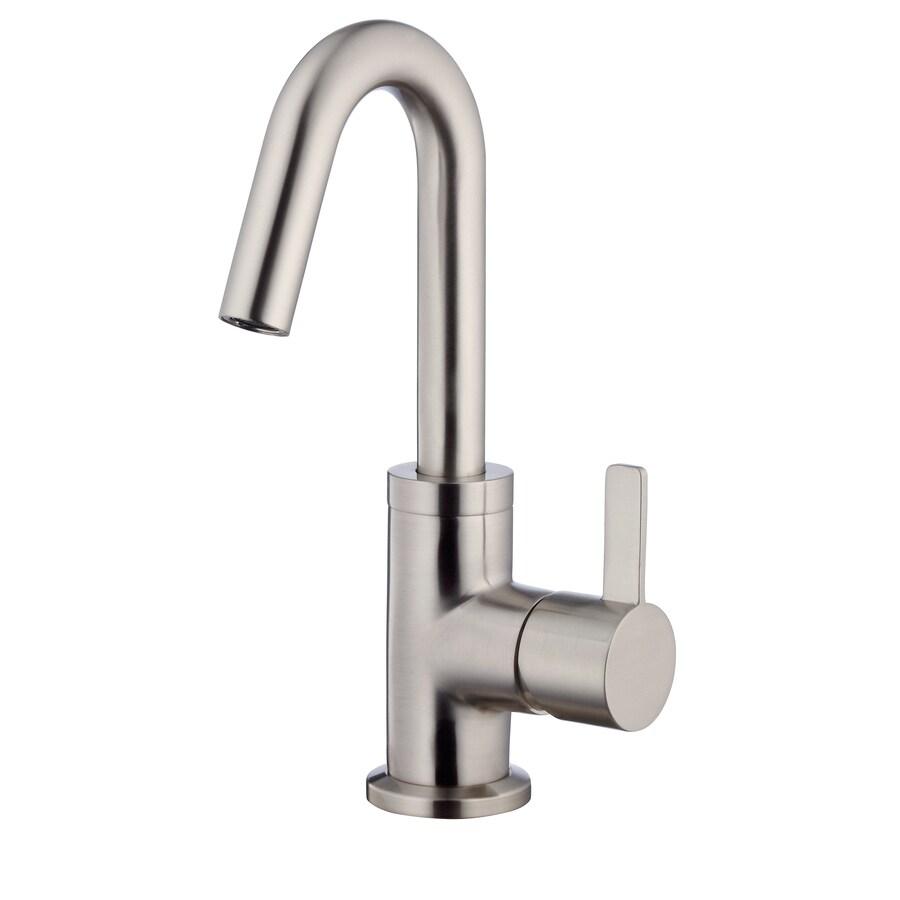 Danze Amalfi Brushed Nickel 1-Handle Single Hole WaterSense Bathroom Faucet (Drain Included)