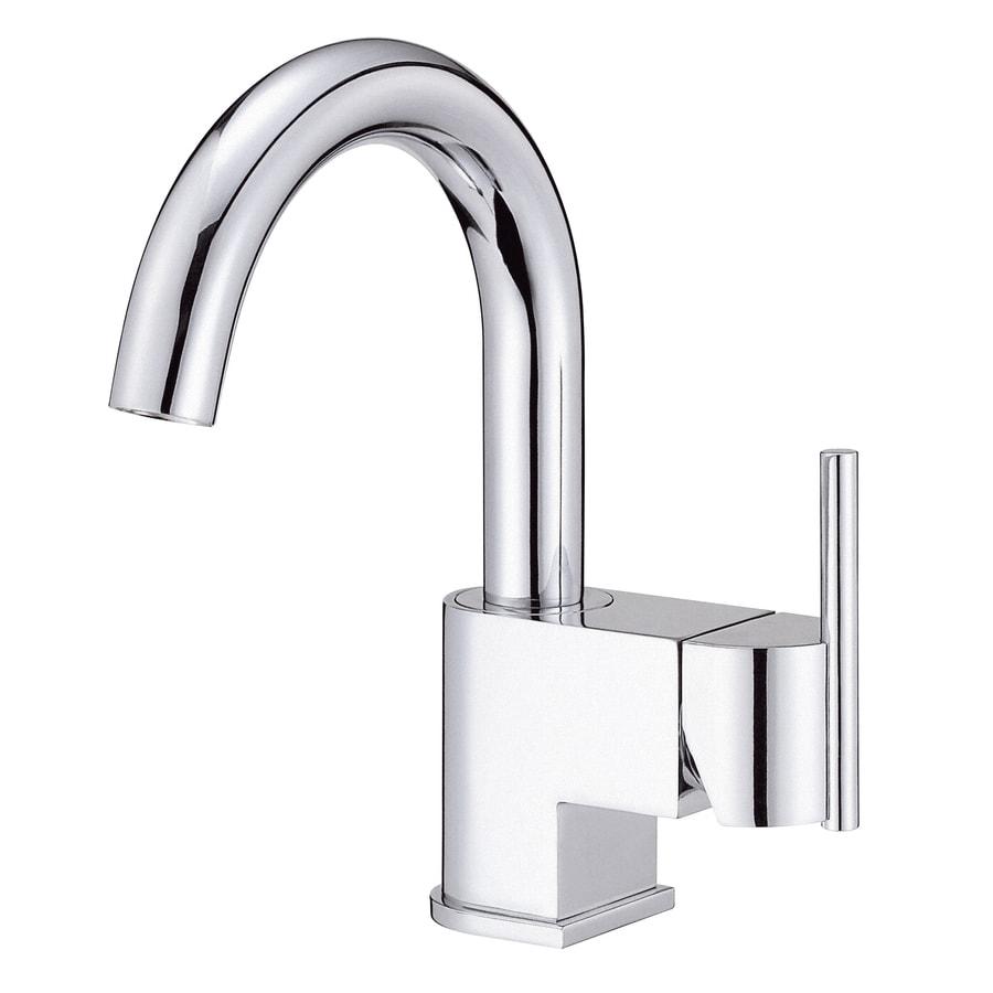 Danze Como Chrome 1-Handle Single Hole WaterSense Bathroom Faucet (Drain Included)