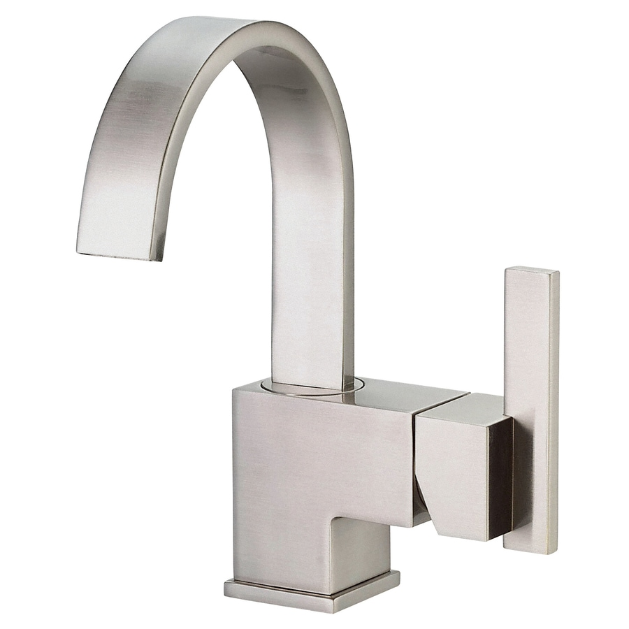Danze Sirius Brushed Nickel 1-Handle Single Hole Bathroom Faucet (Drain Included)