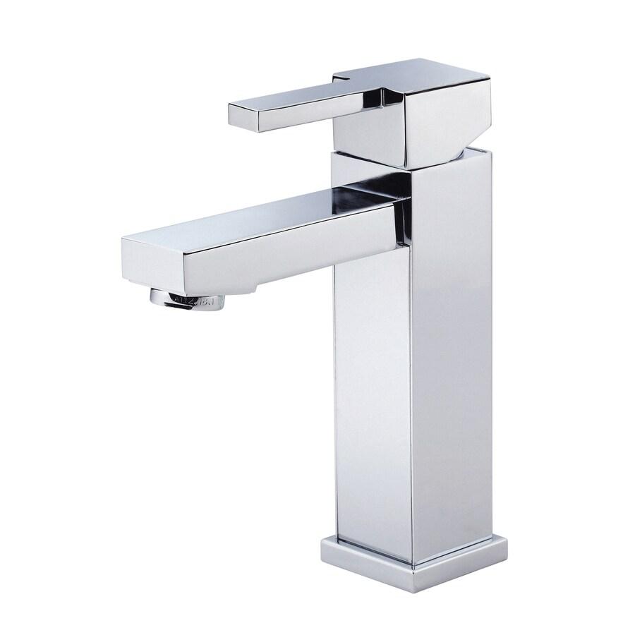 Danze Reef Chrome 1-Handle Single Hole WaterSense Bathroom Faucet (Drain Included)