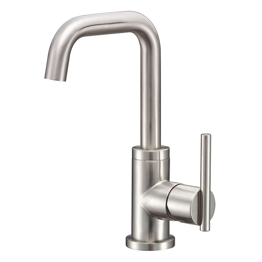 Danze Parma Brushed Nickel 1-Handle Single Hole WaterSense Bathroom Faucet (Drain Included)