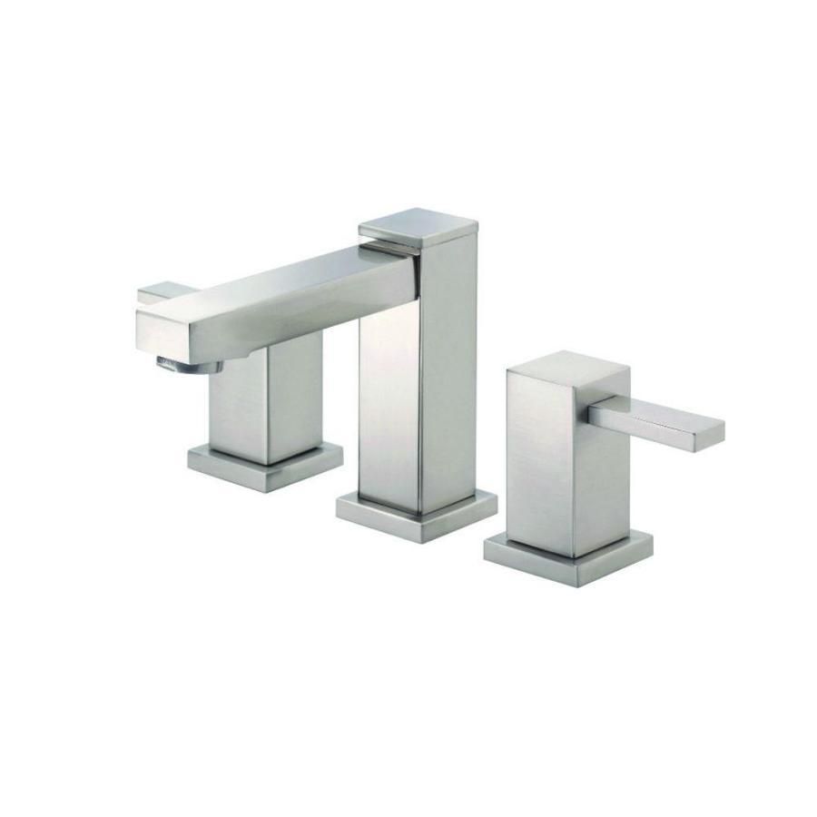 Danze Reef Brushed Nickel 2-Handle Widespread WaterSense Bathroom Faucet (Drain Included)