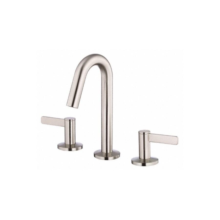 Danze Amalfi Brushed Nickel 2-Handle 4-in Mini Widespread WaterSense Bathroom Faucet (Drain Included)