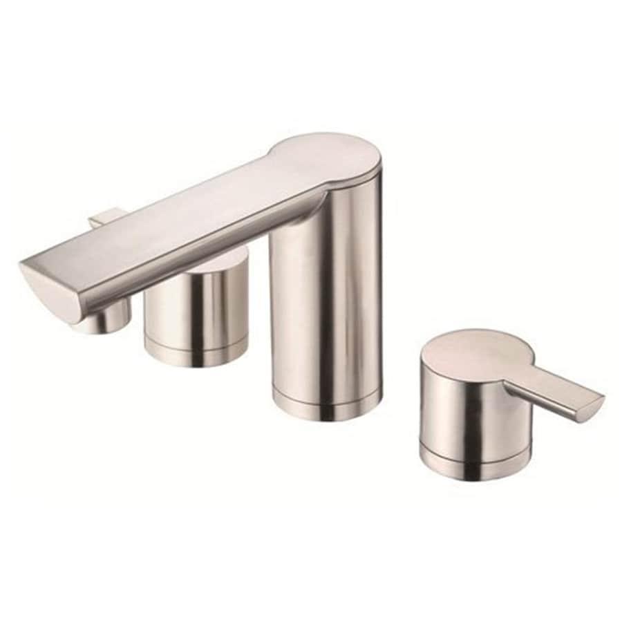 Danze Adonis Brushed Nickel 2-Handle Widespread WaterSense Bathroom Faucet (Drain Included)