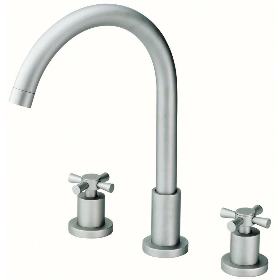 Shop Danze Parma Brushed Nickel 2 Handle Widespread Watersense Bathroom Faucet At