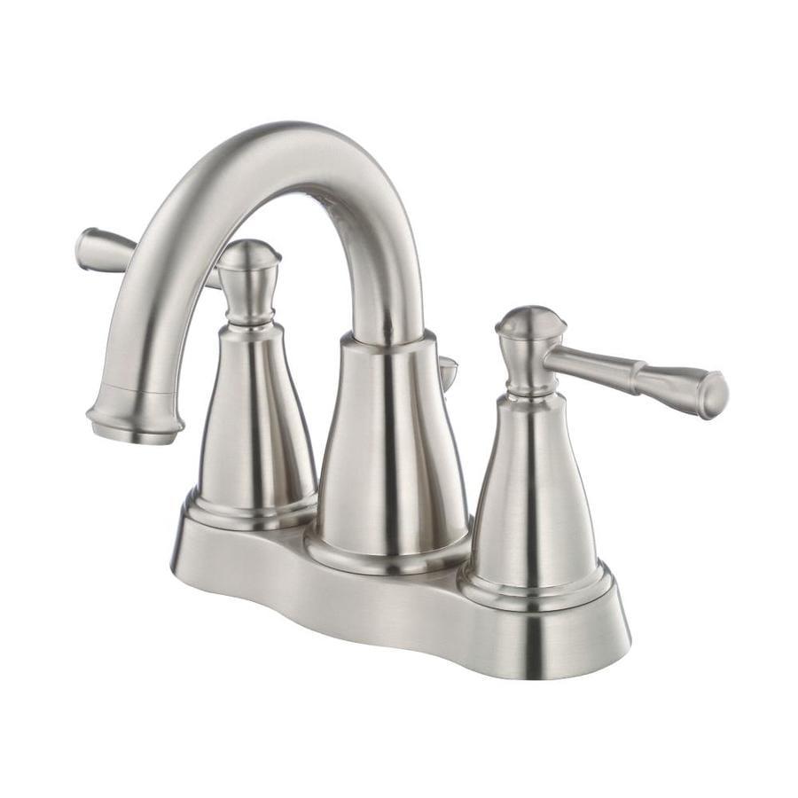 Danze Eastham Brushed Nickel 2-Handle 4-in Centerset WaterSense Bathroom Faucet (Drain Included)