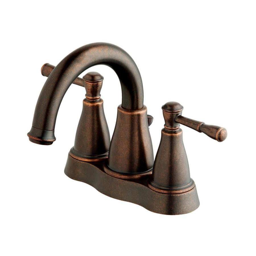 Danze Eastham Tumbled Bronze 2-Handle 4-in Centerset WaterSense Bathroom Faucet (Drain Included)