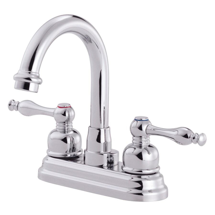 Danze Sheridan Chrome 2-Handle 4-in Centerset WaterSense Bathroom Faucet (Drain Included)