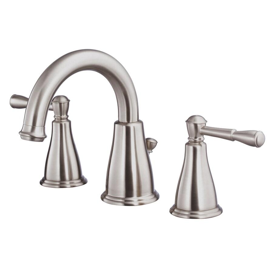 Danze Eastham Brushed Nickel 2-Handle Widespread WaterSense Bathroom Faucet (Drain Included)