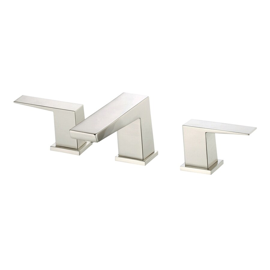 Danze Mid-Town Brushed Nickel 2-Handle Widespread WaterSense Bathroom Faucet (Drain Included)