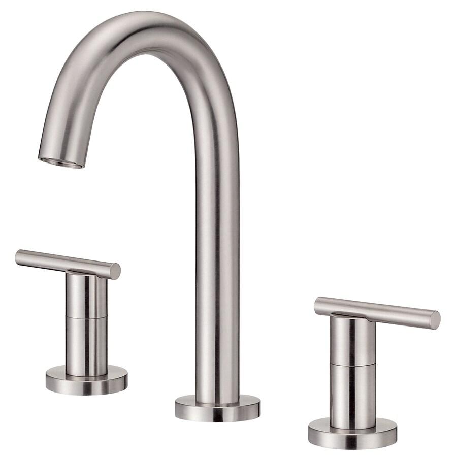 Danze Parma Brushed Nickel 2-Handle 4-in Mini Widespread WaterSense Bathroom Faucet (Drain Included)