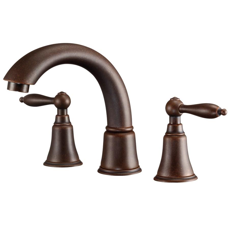 Danze Fairmont Oil-Rubbed Bronze 2-Handle 4-in Mini Widespread WaterSense Bathroom Faucet (Drain Included)