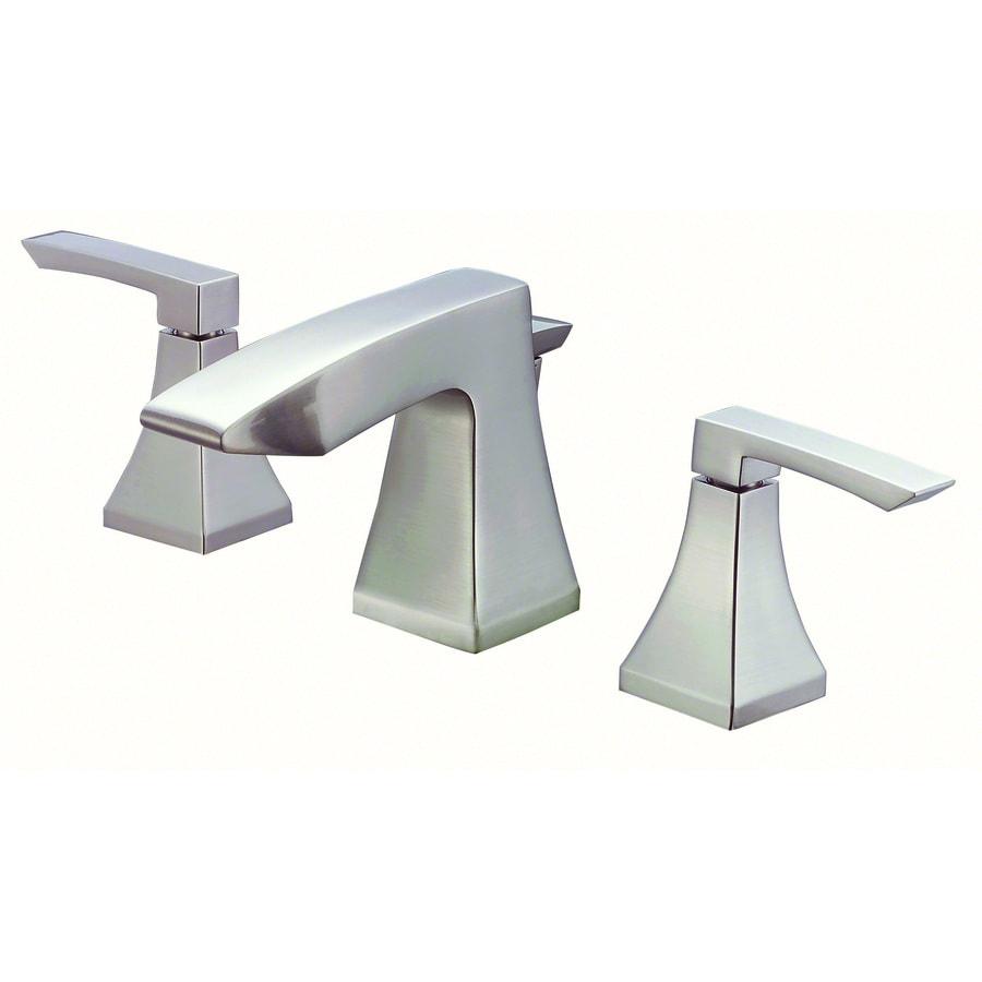 Danze Logan Square Brushed Nickel 2-Handle 4-in Mini Widespread WaterSense Bathroom Faucet