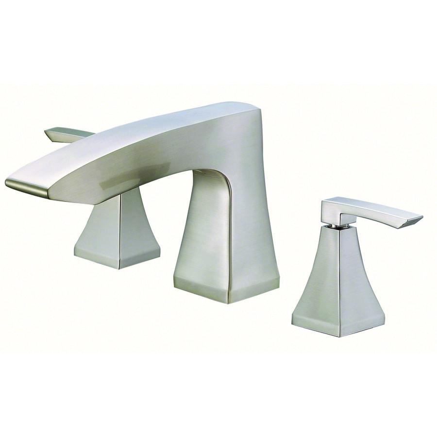 Shop Danze Logan Square Brushed Nickel 2 Handle Fixed Deck Mount Bathtub Faucet At