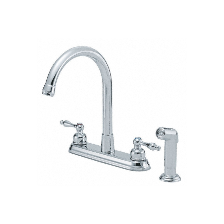 Danze Sheridan Chrome 2-Handle High-Arc Kitchen Faucet with Side Spray