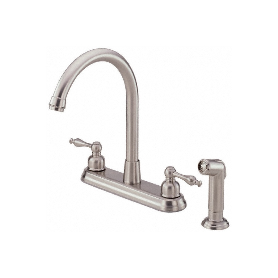 Danze Sheridan Stainless Steel 2-Handle High-Arc Kitchen Faucet with Side Spray