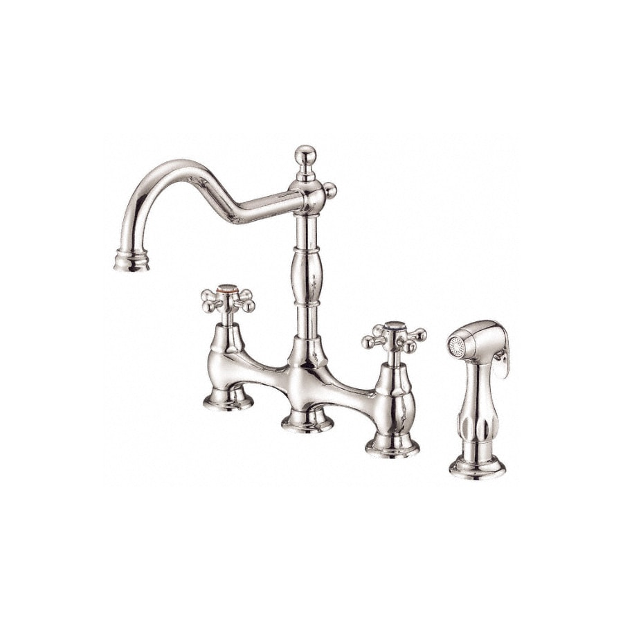 Danze Opulence Polished Nickel 2-Handle High-Arc Kitchen Faucet with Side Spray
