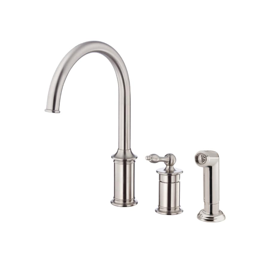 Danze Prince Stainless Steel 1-Handle High-Arc Kitchen Faucet with Side Spray