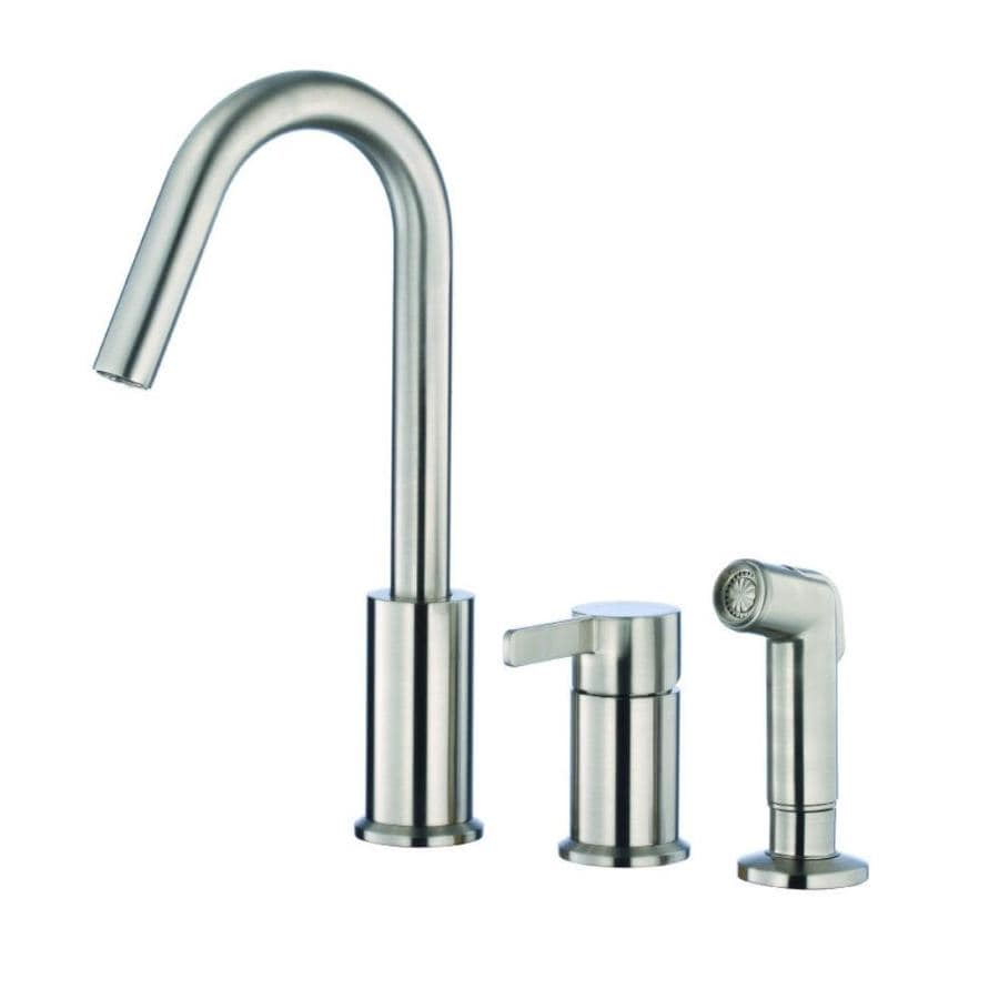 Danze Amalfi Stainless Steel 1-Handle High-Arc Kitchen Faucet with Side Spray