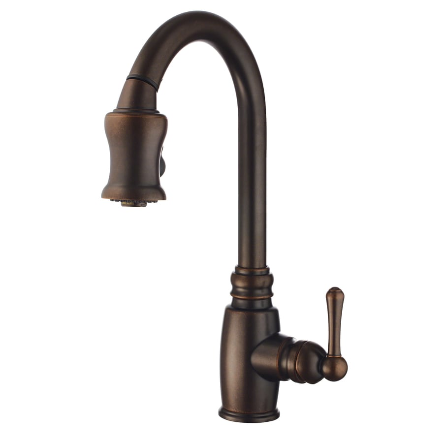 Kitchen Faucets Bronze: Shop Danze Opulence Tumbled Bronze 1-Handle Pull-Down