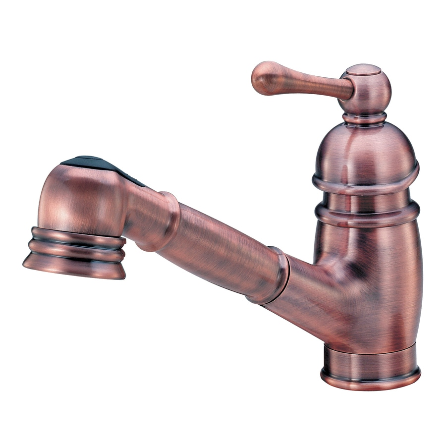 Danze Opulence Antique Copper 1-Handle Pull-Out Kitchen Faucet