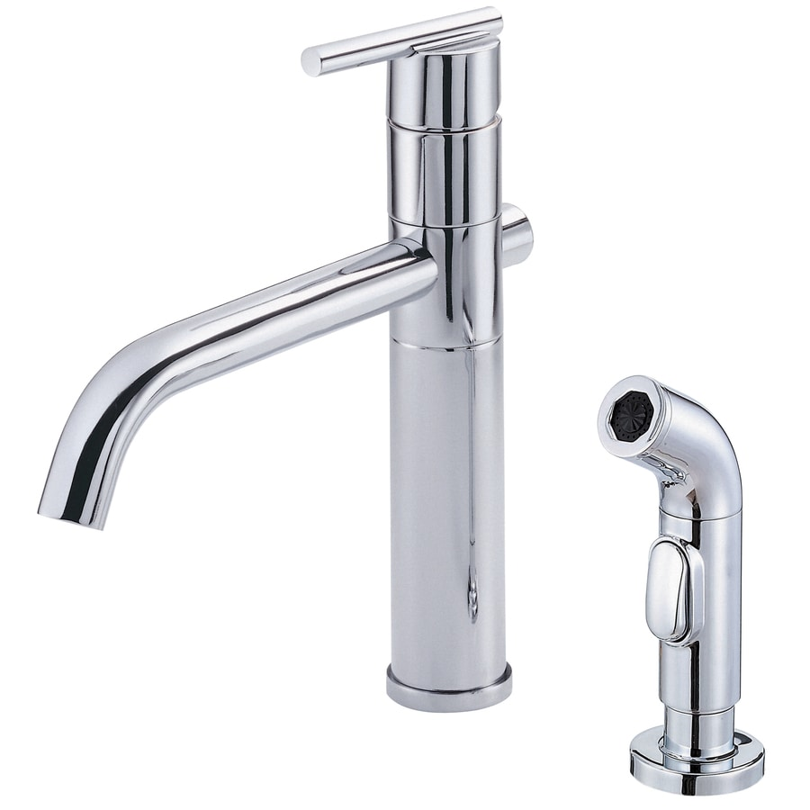 Danze Parma Chrome 1-Handle Low-Arc Kitchen Faucet with Side Spray