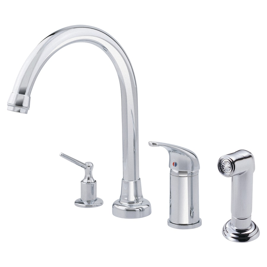 Danze Melrose Chrome 1-Handle High-Arc Kitchen Faucet with Side Spray