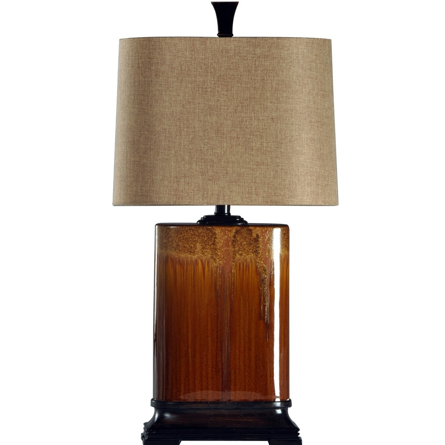 StyleCraft Home Collection 31.5-in 3-Way Switch Cinnaban Indoor Table Lamp with Fabric Shade