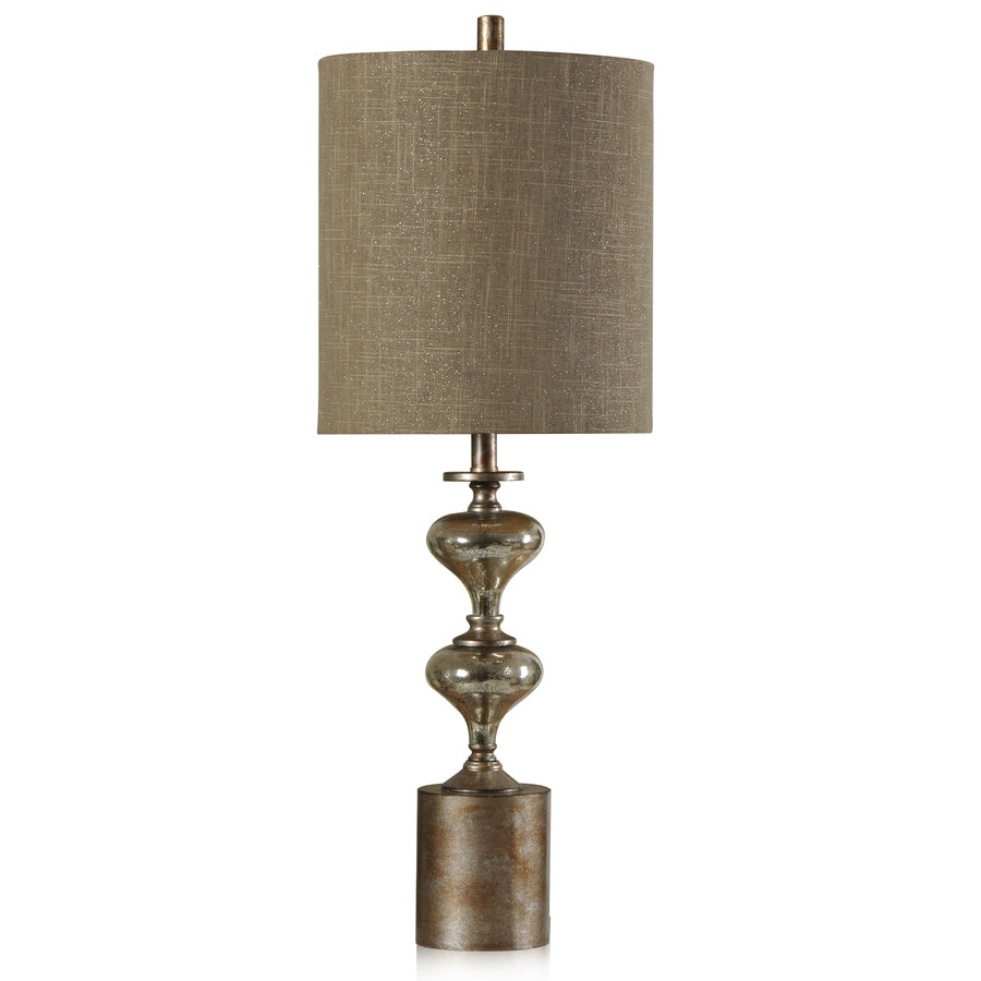 StyleCraft Home Collection 34-in 3-Way Switch Northbay and Laslo Indoor Table Lamp with Fabric Shade