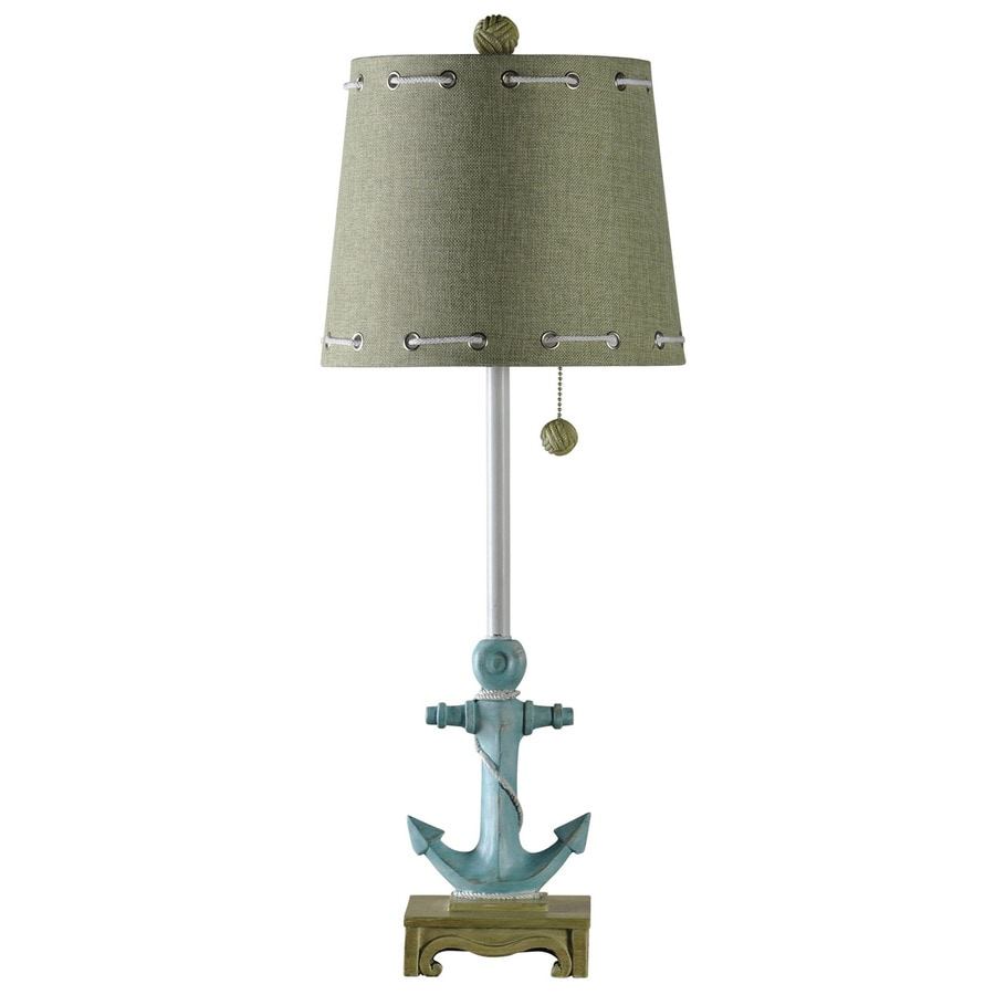 StyleCraft Home Collection 31-in 3-Way Switch Ahoy Indoor Table Lamp with Fabric Shade