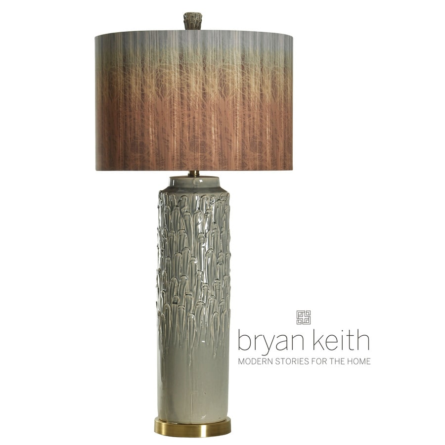 StyleCraft Home Collection 38-in 3-Way Switch Muir Woods Indoor Table Lamp with Fabric Shade