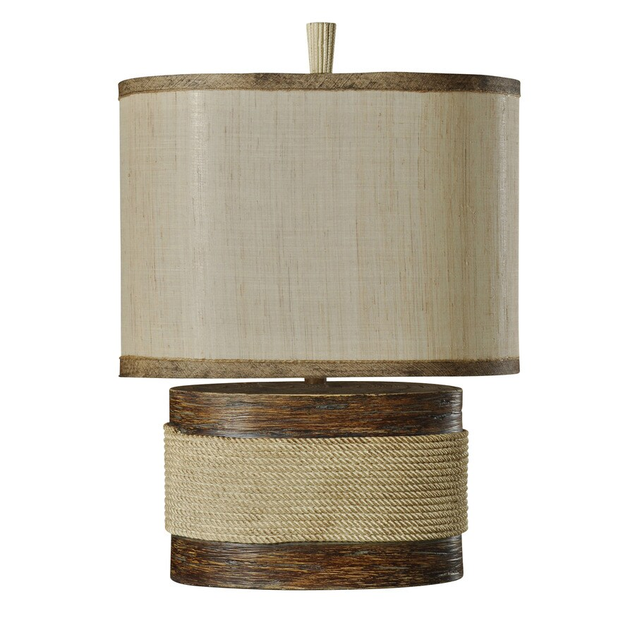 StyleCraft Home Collection 26-in 3-Way Switch Daleys Point Indoor Table Lamp with Fabric Shade