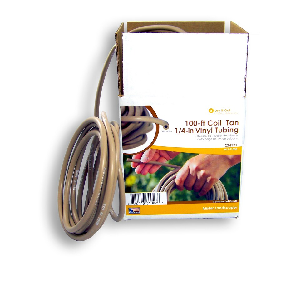 Mister Landscaper 1/4-in x 100-ft Vinyl Drip Irrigation Distribution Tubing