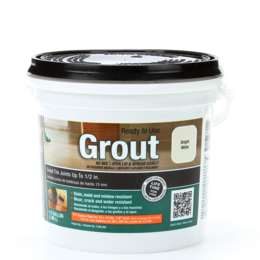 TEC Bright White Sanded Premixed Grout