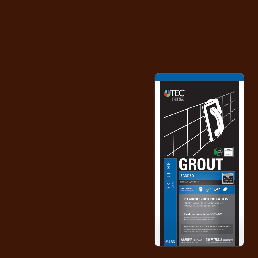 TEC Skill Set 25-lb Espresso Sanded Powder Grout