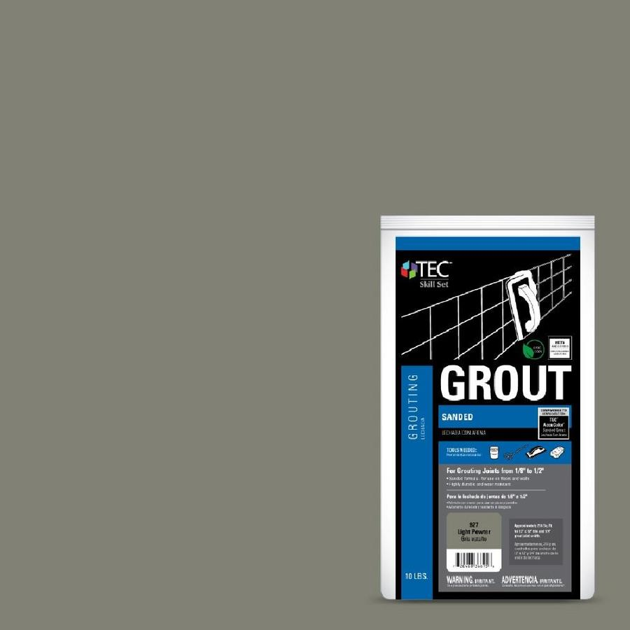 TEC Skill Set 10-lb Light Pewter Sanded Powder Grout