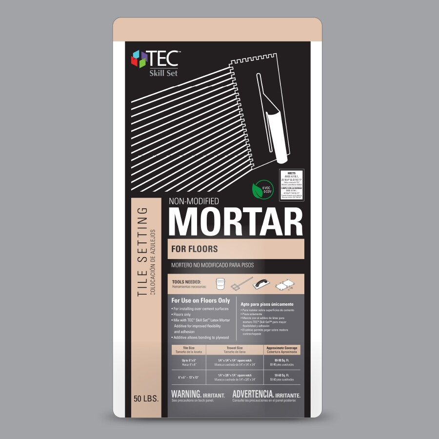TEC Skill Set Floor 50-lb Gray Powder Dry-Thinset Mortar