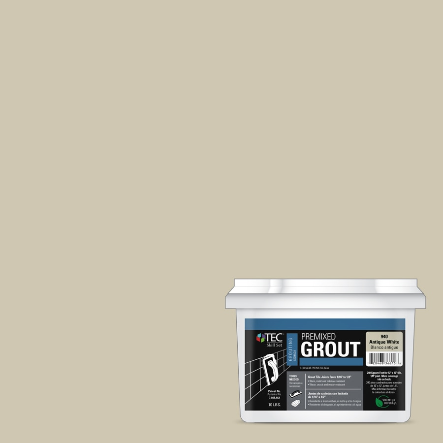 TEC Skill Set 10-lb Antique White Sanded Premixed Grout