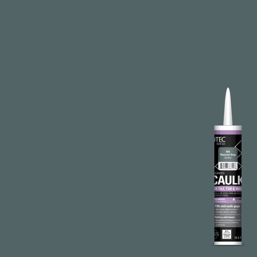 Grey Kitchen And Bath Caulk: Shop TEC Skill Set 10.5-fl Oz Charcoal Gray Latex Kitchen