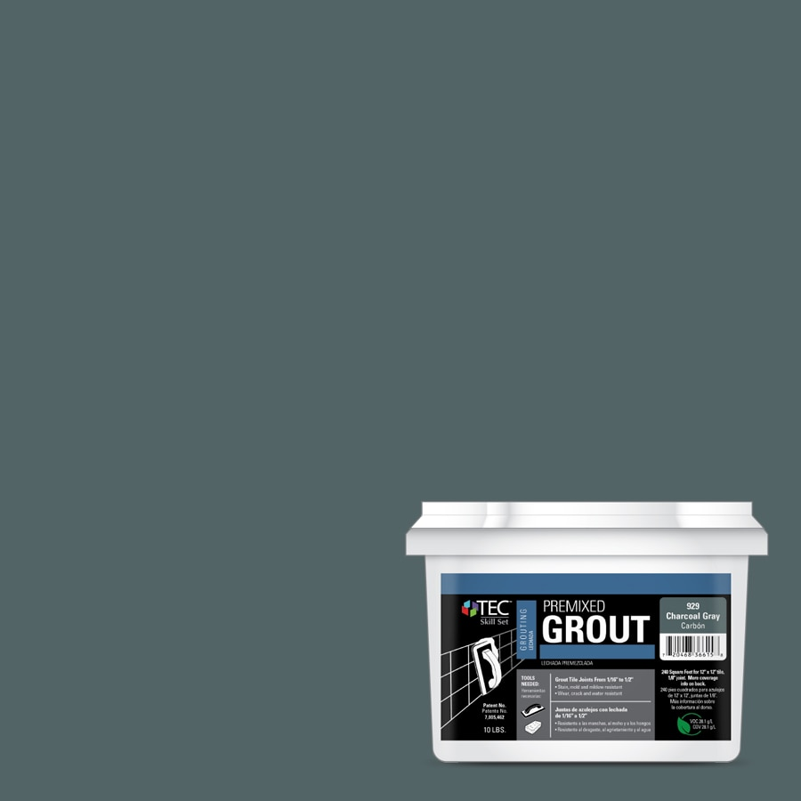 TEC Skill Set 10-lb Charcoal Gray Sanded Premixed Grout