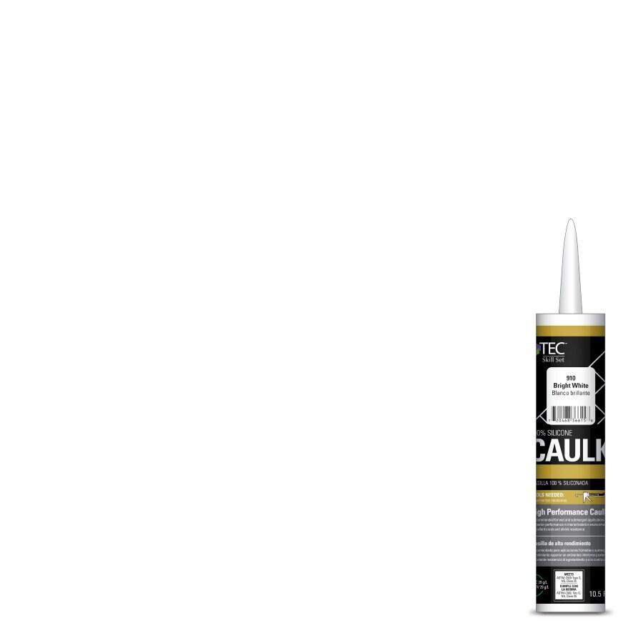 TEC Skill Set 10.5-fl oz Bright White Silicone Kitchen and Bathroom Caulk