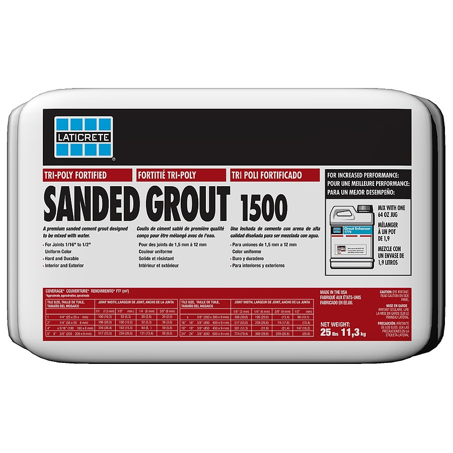 LATICRETE 25 lbs. Smoke Grey Sanded Powder Grout