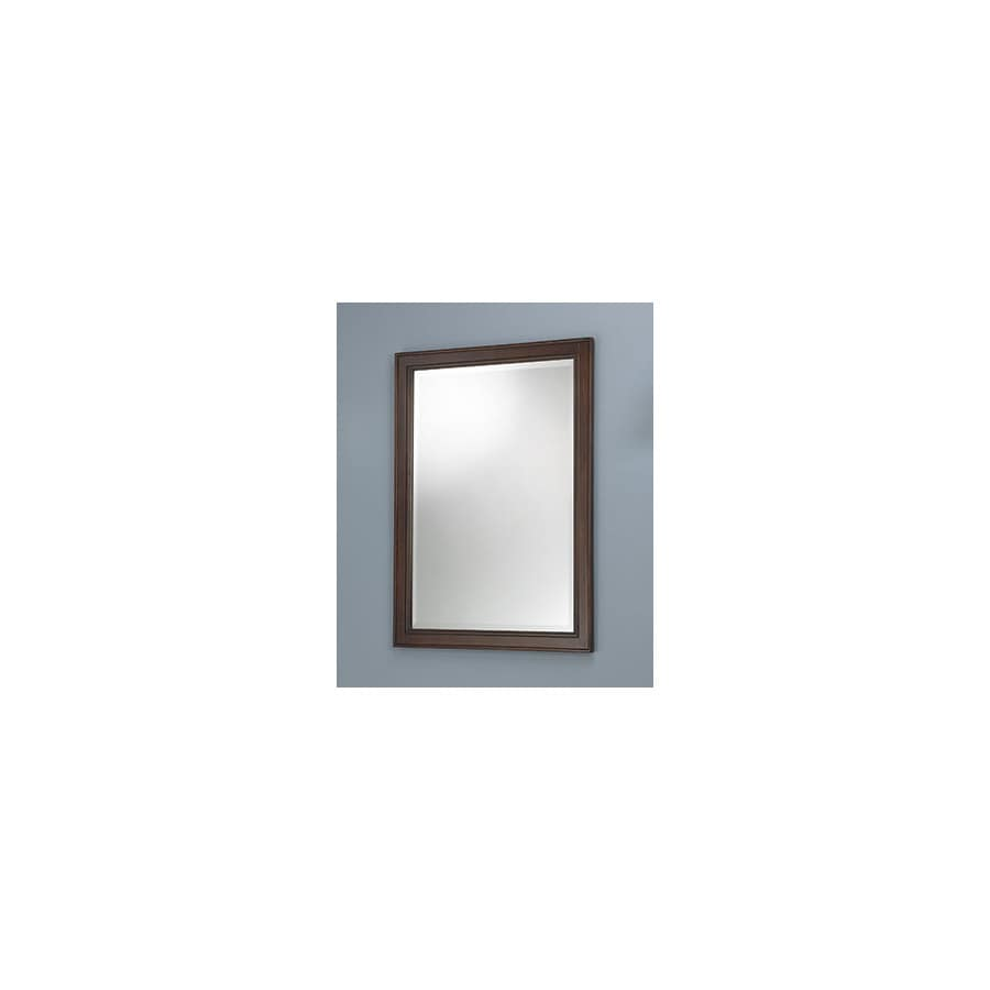 Foremost Hawthorne 23.75-in W x 32-in H Dark Walnut Rectangular Bathroom Mirror