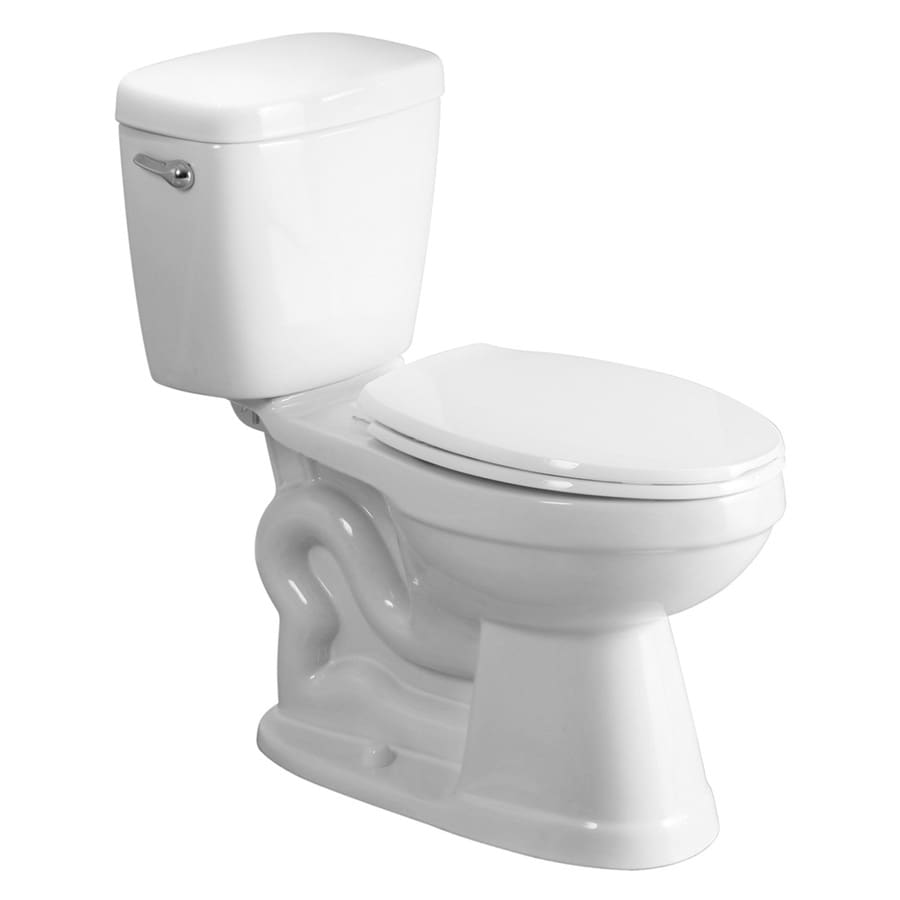 AquaSource All-in-One White 1.28-GPF (4.85-LPF) 12 Rough-In WaterSense Elongated 2-Piece Chair Height Toilet