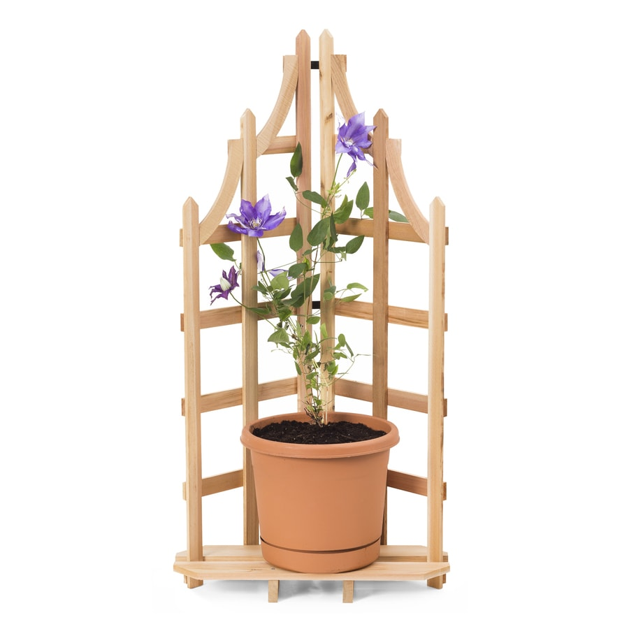 Garden Treasures 15-in W x 48-in H Natural Folding Garden Trellis