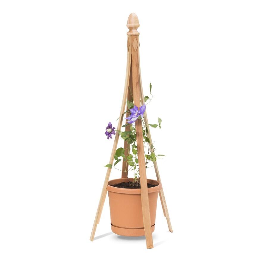 Garden Treasures 24-in W x 52-in H Natural Obelisk Garden Trellis
