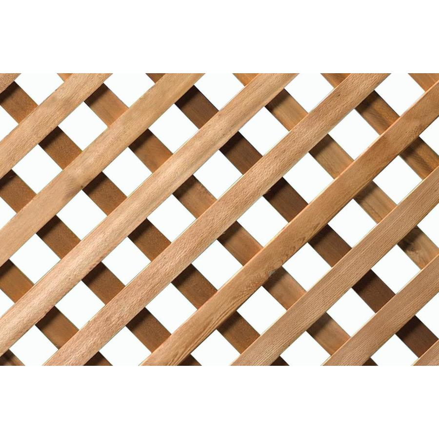 Shop 4x8 Cedar Lattice Premium Privacy At Lowes Com