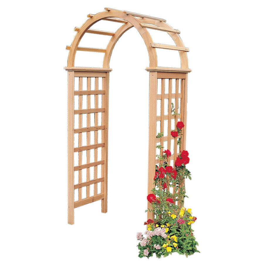 Garden Architecture 3.4-ft W x 7.3-ft H Natural Garden Arbor