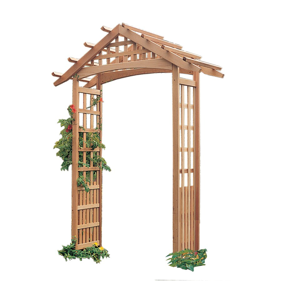 Garden Architecture 6.1-ft W x 8.1-ft H Natural Garden Arbor
