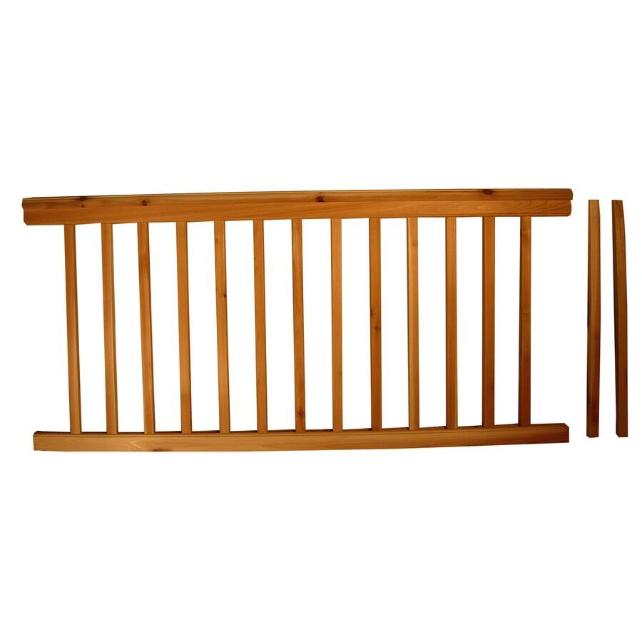 Top Choice Instarail Natural Redwood Deck Railing Kit (Assembled: 5.77-ft x 3-ft)